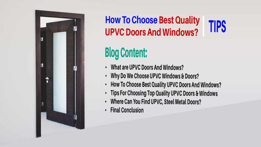 How To Choose Best UPVC Doors And Windows Steel Metal Doors In Vijayawada